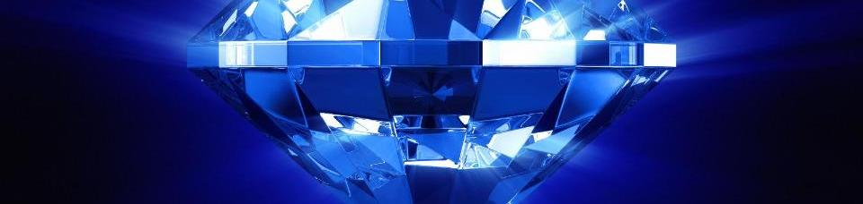 A Bright, Vibrant Blue Diamond