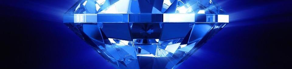 A Bright, Vibrant Blue Diamond